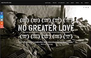 Picture of No Greater Love website.