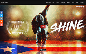 Picture of Shine website.