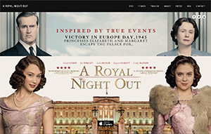 Picture of A Royal Night Out website.