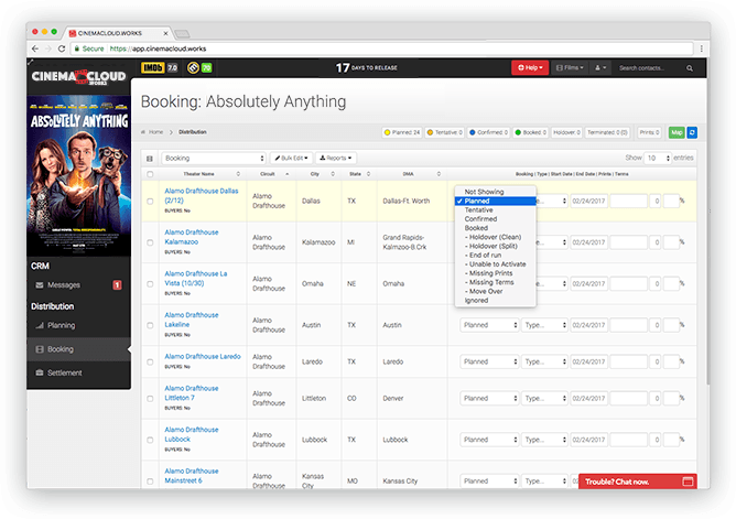 Screenshot: Theatrical Booking: Simple Booking Management