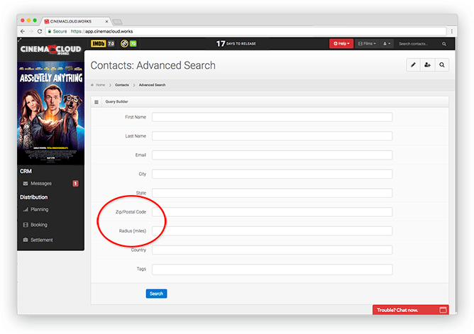 Screenshot: CRM: Regional Audience Targeting
