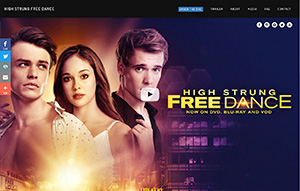 Picture of High Strung Free Dance website.