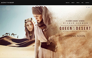 Picture of Queen of the Desert website.